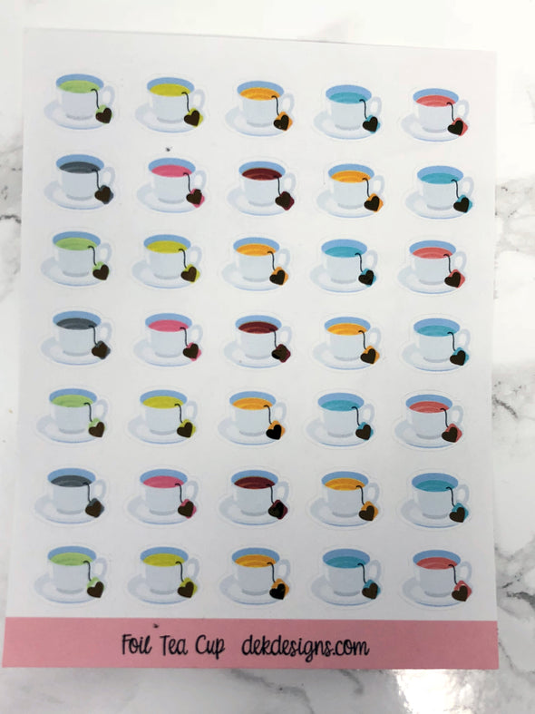 Foil Tea Cups - DEK Designs