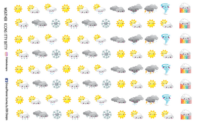 Weather Icons - Itty Bitty - DEK Designs