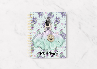 Lavender Fields Planner Cover - DEK Designs