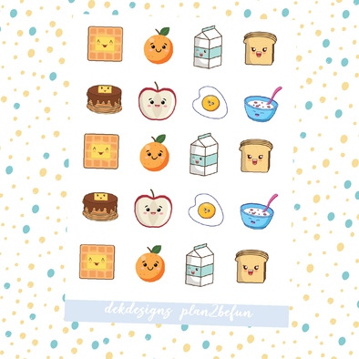 Kawaii Breakfast - DEK Designs