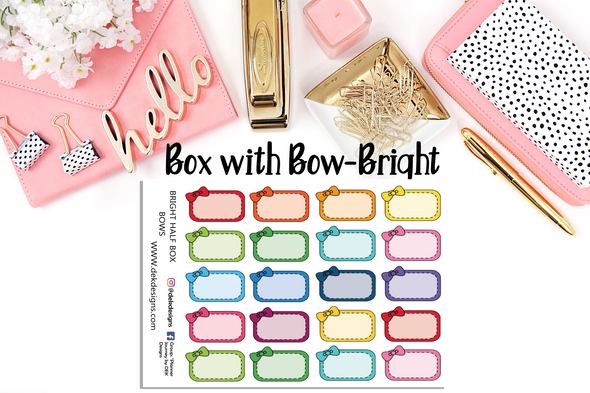 Box with Bows - Bright - DEK Designs
