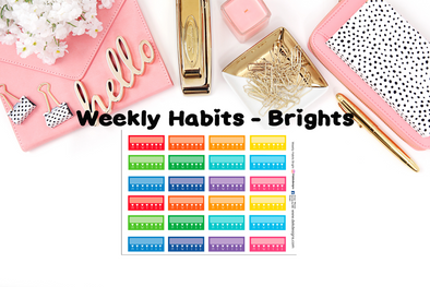 Weekly Habits Brights