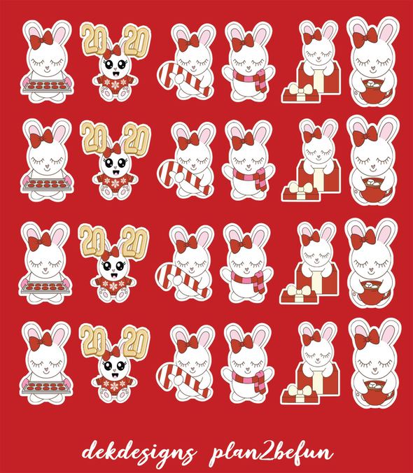 RTS - Bunny and Boo Holiday - DEK Designs