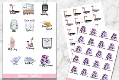 Fitness Collection - 2019 Planner Icons - DEK Designs