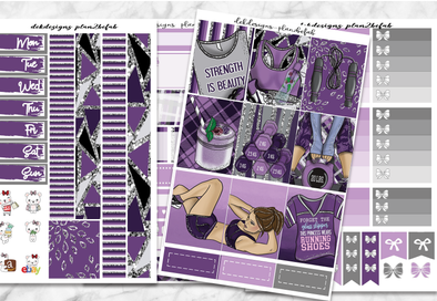 Strength is Beauty-Deluxe Kit 6 pages - DEK Designs