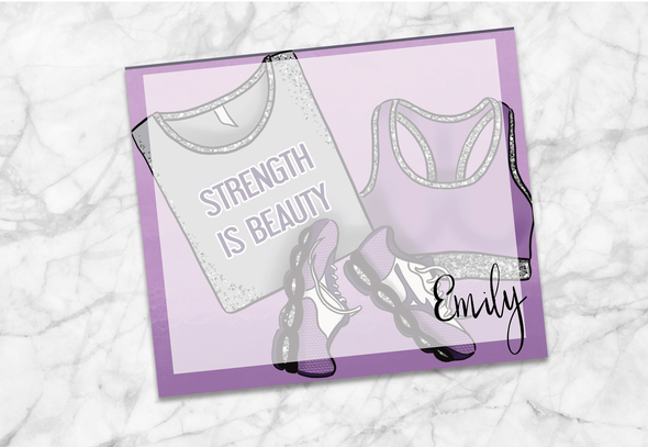 Strength Is Beauty - Note Pad Custom - DEK Designs