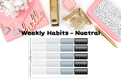 Weekly Habits Nuetral