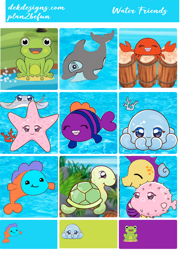 Water Friends - DEK Designs