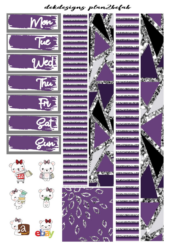 Strength is Beauty-White Space Kit 4 Sheets - DEK Designs