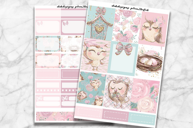 RTS-Spring Owls-6 Sheet Rose Gold foil kit