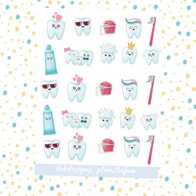 Kawaii Brush Your Teeth - DEK Designs