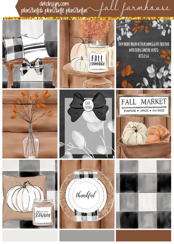 Mini Kit - Fall Farmhouse - DEK Designs