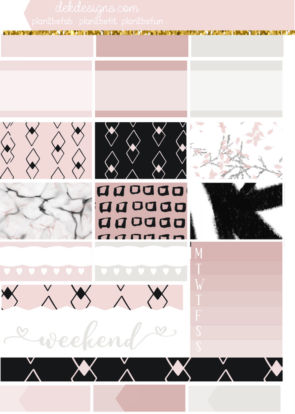 Blush & Noir - Foil Kit - DEK Designs