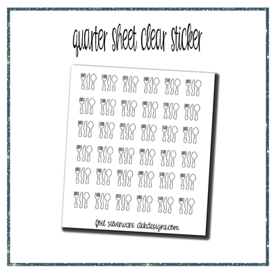 Silverware Clear Foil Overlays
