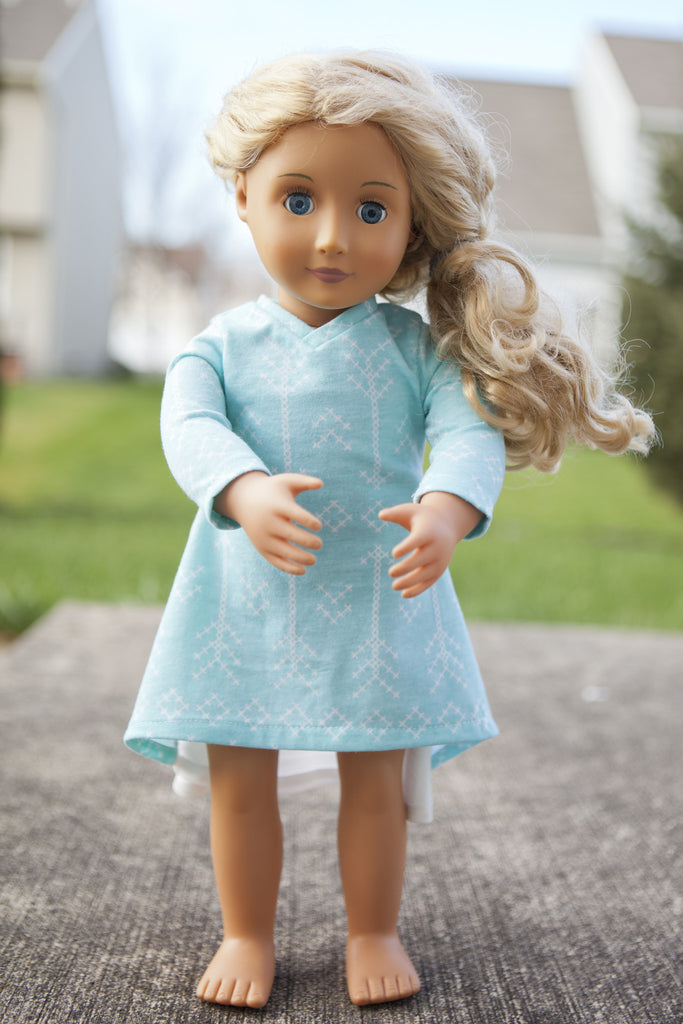 Magnolia Sew&Tell: Free Magnolia 18inch Doll Dress Pattern