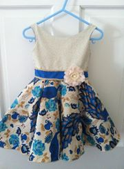 Bateau Garden Dress for girls size 1-14