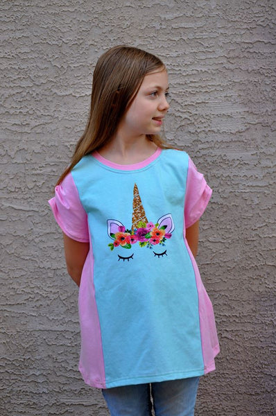 Perfect Panel Tee for Boys and Girls size 1-14