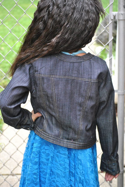 Fashionista Jean Jacket for Girls size 1-14
