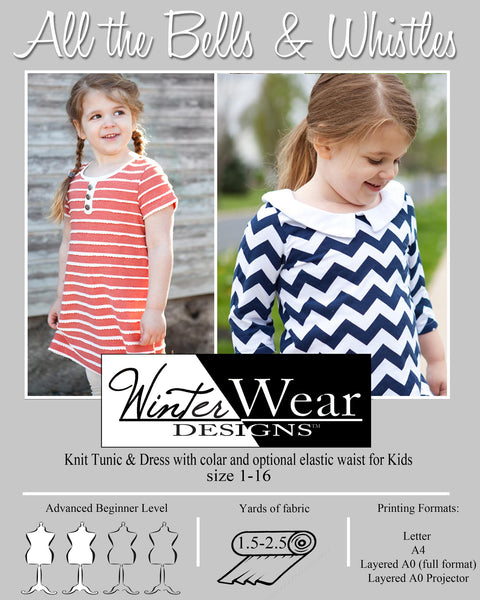 All the Bells and Whistles Knit Top & Dress for girls size 1-16
