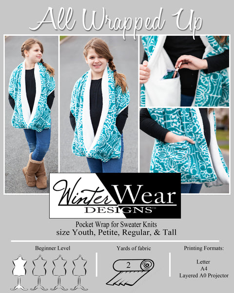 All Wrapped Up Sleeved or Pocket Wrap Scarf: Free with Code