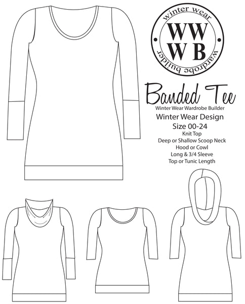 Banded Tee for Women size 00-24