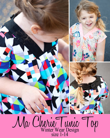 Ma Cherie Tunic Top for girls size 1-14