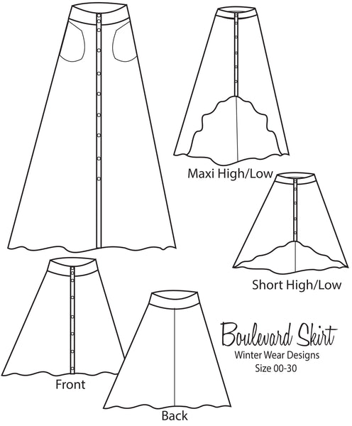 Boulevard Skirt for Women 00-30