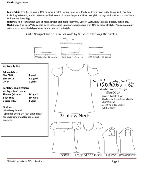 Tidewater Tee for Women size 00-24
