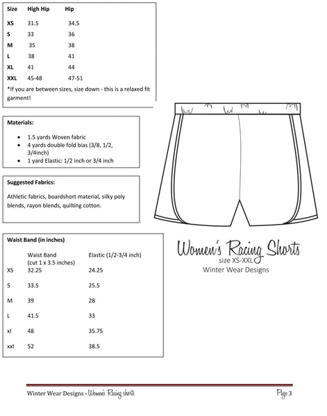 Mommy and Me Racing Shorts Bundle for Women and Girls