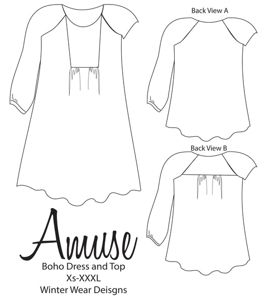 Amuse Boho Top and Dress for Women size XS-XXXL