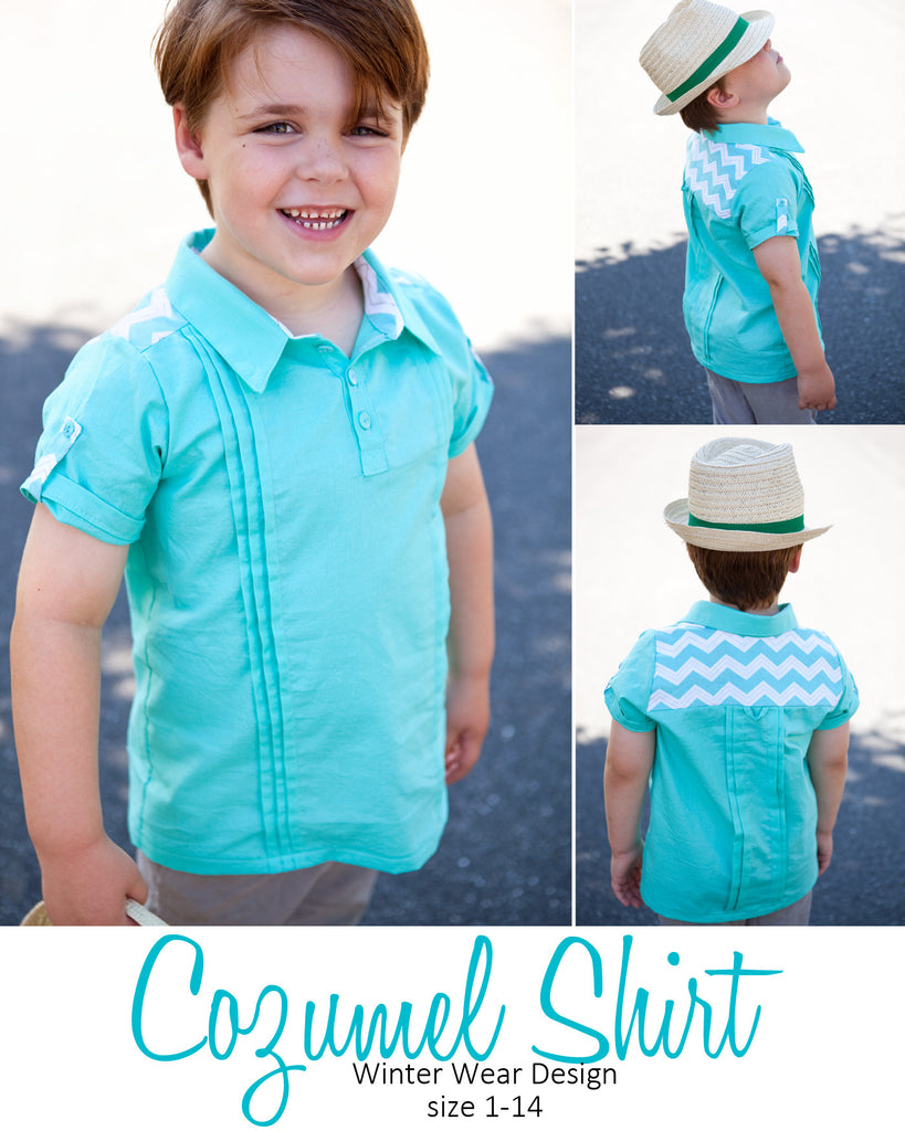 Cozumel Shirt for Boys size 1-14