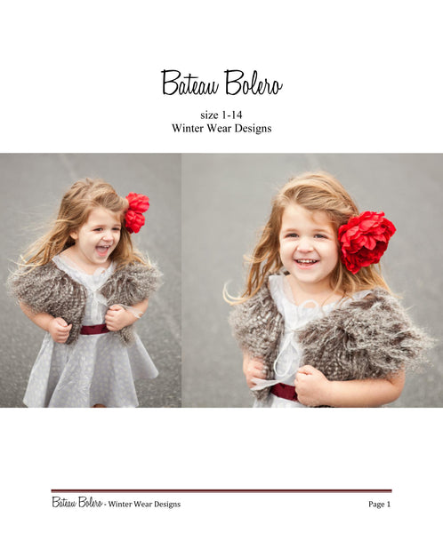 Bateau Bolero for girls size 1-14