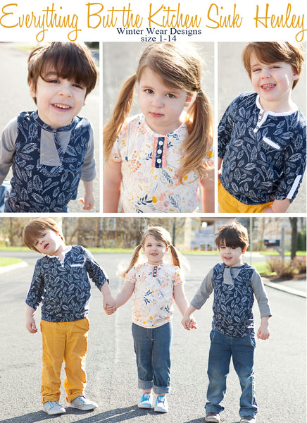 Mommy and Me Henley Bundle for Women and Kids