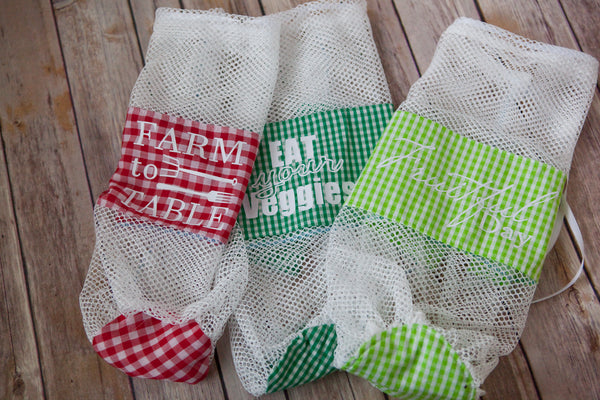 Produce Bags, Free Pattern and HTV Cut Files