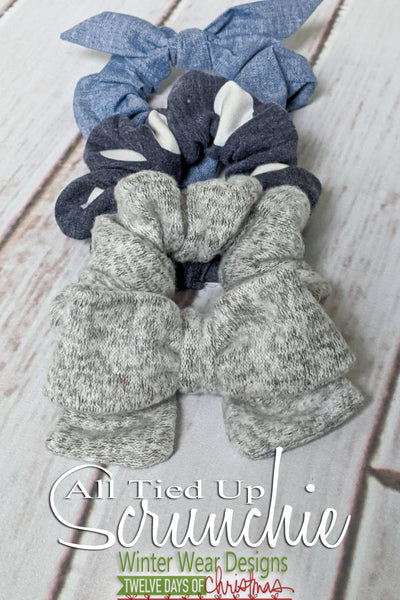 All Tied Up Scrunchie: Free Pattern with Code