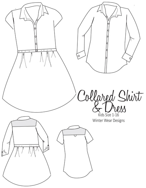 Collared BUNDLE: Kids Collared Shirt & Dress and Women's Collared Shirt Dress
