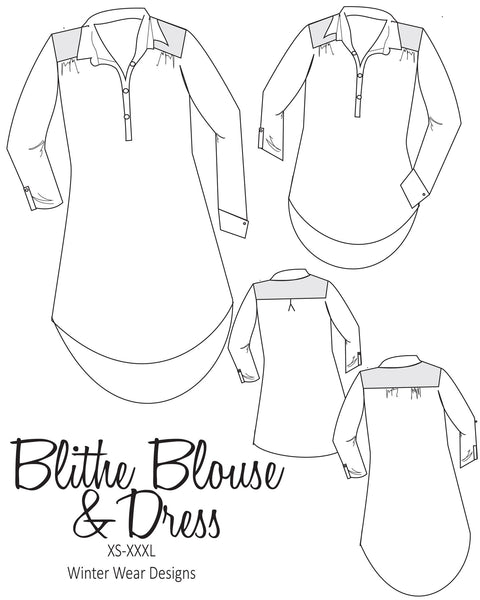 Blithe Blouse and Dress for Women size XS-XXXL