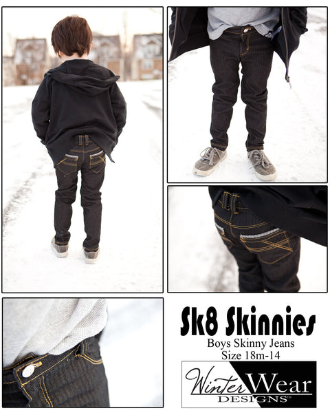 Sk8 Skinnies, Jeans for boys size 1-14