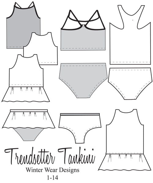Trendsetter Tankini for girls size 1-14