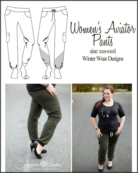 Aviator Pants for Women size XXS-XXXL