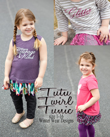 Tutu Twirl Tunic for girls size 1-16