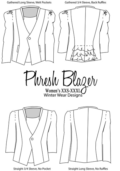 Phresh Blazer for Women size XXS-XXXL