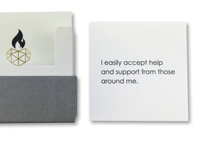 Positive Affirmation Card for Self-Empowerment - I easily accept help and support