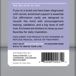 Cancer Warrior Affirmation Cards  Healing Affirmations for Cancer