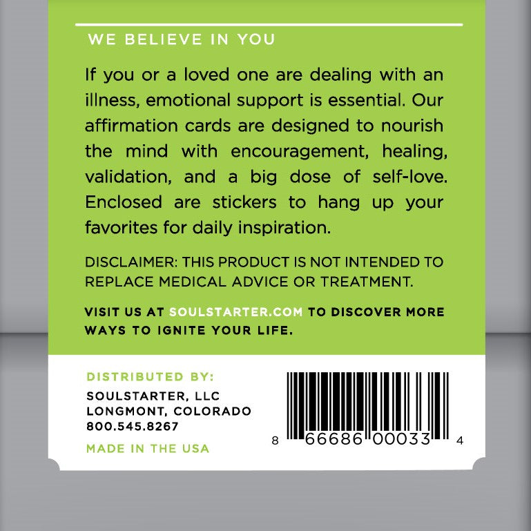 Restore Health - Affirmation Cards To Support Treatment of Illness Box