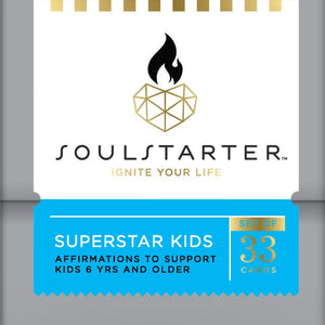 SoulStarter Superstar Kids - Affirmation Cards for Kids 6 yrs & Older Box Set