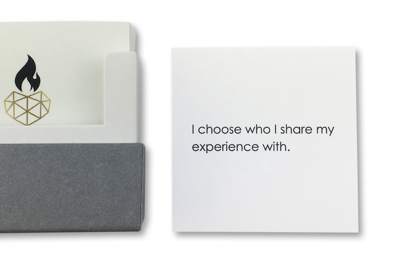 Affirmation Card For Healing Example - I choose who I share my experience with