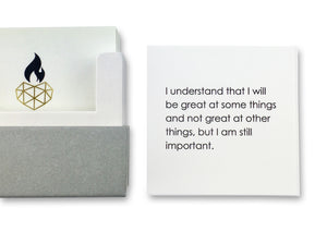 Positive Affirmation Cards for Children  - I understand I will be great at some things