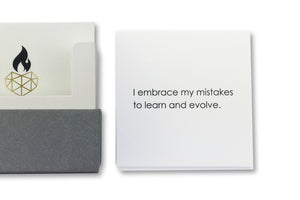 Affirmation Card for Self Esteem - I  embrace my mistakes