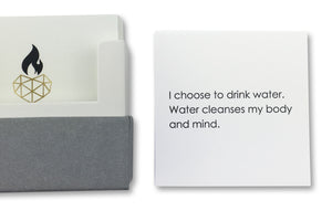 Affirmation Cards for Well-Being - I choose to drink water